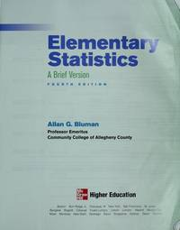 image of Elementary Statistics: A Brief Version (Annotated Instructor's Edition)
