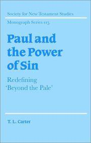 Paul and the Power of Sin: Redefining 'Beyond the Pale' (Society for New Testament...