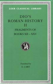 Roman History, Volume II: Books 12-35 (Loeb Classical Library) (v. 2) by  Herbert B. Foster (Translator)  Earnest Cary (Translator) - Hardcover - 1914-01-01 - from Ergodebooks and Biblio.com