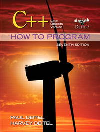 C++ How to Program: Late Objects Version (7th Edition) (How to Program (Deitel))