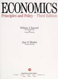Economics - Principles and Policy -Third Edition