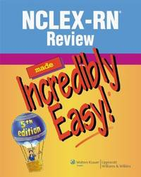NCLEX-RN® Review Made Incredibly Easy! (Incredibly Easy! Series®) by Lippincott