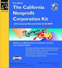 The California Nonprofit Corporation Kit with CDROM Mancuso, Anthony