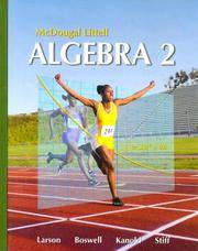 image of McDougal Littell Algebra 2 (Holt McDougal Larson Algebra 2)