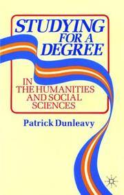 Studying for a Degree: In the Humanities and Social Sciences