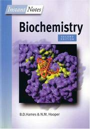 Instant Notes in Biochemistry by  N. M. Hooper B.D. Hames - Paperback - from Brit Books Ltd (SKU: mon0001608753)
