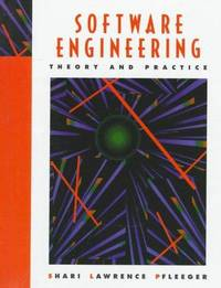Software Engineering: Theory and Practice by Shari Lawrence Pfleeger - Hardcover - 1998-01-15 - from Ergodebooks and Biblio.com