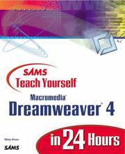 Sams Teach Yourself Macromedia Dreamweaver 4