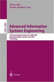 Advanced Information Systems Engineering: 15th International Conference, Caise 2003, Klagenfurt, Austria, June 16-18, 2003 Proceedings