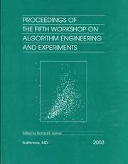 Proceedings of the Fifth Workshop on Algorithm Engineering and Experiments