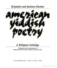 AMERICAN Yiddish Poetry: A Bilingual Anthology