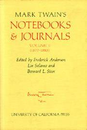 Mark Twain's Notebooks & Journals, Volume II [2]: 1877-1883 (The Mark Twain Papers)