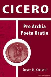 image of Cicero: Pro Archia Poeta Oratio (Latin Edition)