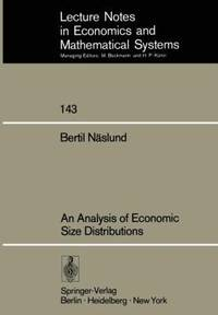 An Analysis Of Economic Size Distributions