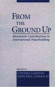 From The Ground Up Minnonite Contributions to International Peacebuilding
