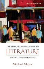 image of The Bedford Introduction to Literature: Reading, Thinking, Writing