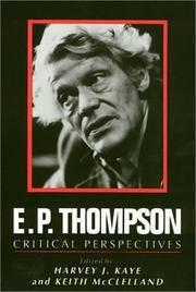 E. P. Thompson: Critical Perspectives