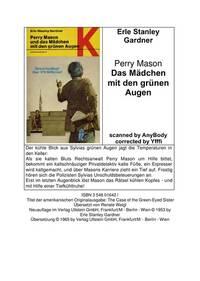 Perry Mason und das Mädchen mit den grünen Augen.