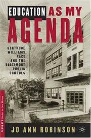 Education As My Agenda: Gertrude Williams, Race, and the Baltimore Public Schools (Palgrave...