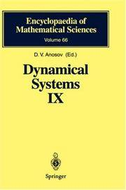 Dynamical Systems IX Dynamical Systems with Hyperbolic Behaviour