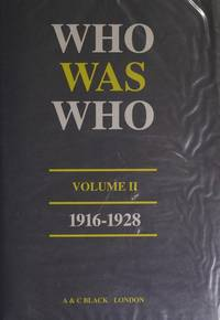 Who Was Who: 1916-1928 (Reference)~ Volume II