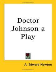 Doctor Johnson a Play