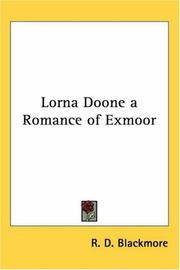 image of Lorna Doone a Romance of Exmoor