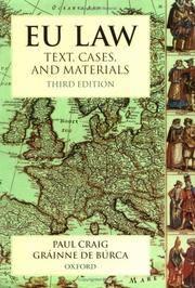 EU Law : Text, Cases and Materials
