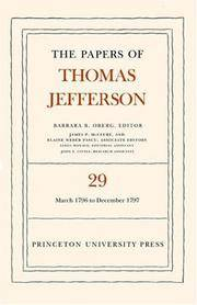image of The Papers of Thomas Jefferson: Volume 29: 1 March 1796 to 31 December 1797