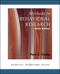 methods in behavioural research cozby pdf