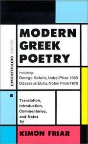 Modern Greek Poetry.