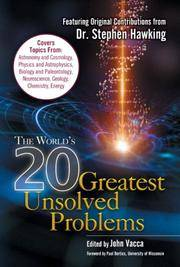 The World's 20 Greatest Unsolved Problems