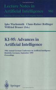 KI-95: Advances in Artificial Intelligence: 19th Annual German Conference on Artificial...