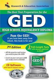 GED w/ CD-ROM (REA) - The Best Test Prep for the GED: 7th Edition (Test Preps)