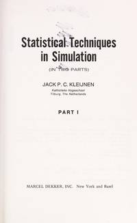 Statistical Techniques in Simulation: Part II 2 Two