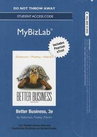 NEW MyBizLab with Pearson eText -- Access Card -- for Better Business