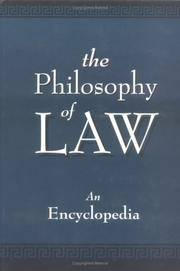 The Philosophy of Law: An Encyclopedia (Garland Reference Library of the Humanities) (2 Volumes) by Christopher Berry Gray (Editor) - Hardcover - 1 - 1999-11-01 - from Ergodebooks (SKU: DADAX0815313446)