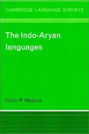 The Indo-Aryan Languages by Colin P. Masica - Paperback - 1993 - from Moe's Books (SKU: 1124976)