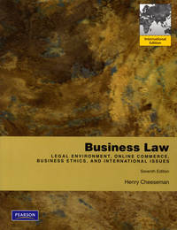 image of Business Law : International Version