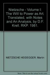 image of Nietzsche: The Will to Power as Art Volume 1