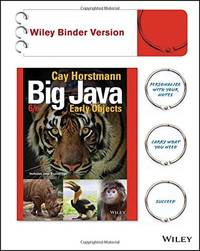 image of Big Java: Early Objects