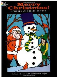 MERRY CHRISTMAS! STAINED GLASS COLORING BOOK (O)