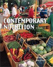 image of Contemporary Nutrition: Issues and Insights (Book with Nutriquest CD-ROM)