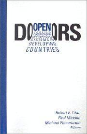 Open Doors: Foreign Participation in Financial Systems in Developing Countries