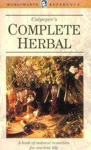 image of Culpeper's Complete Herbal (Wordsworth Reference)