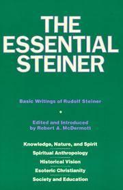 image of Essential Steiner:  Basic Writings of Rudolf Steiner