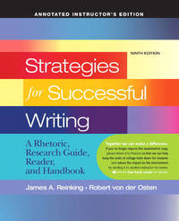 image of Strategies for Successful Writing : a Rhetoric, Research Guide, Reader, and Handbook
