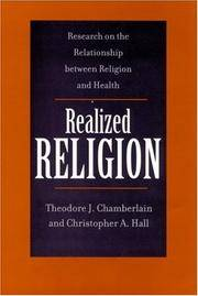 Realized Religion - Research on the Relationship between Religion and Health