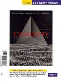 Books A la Carte for Chemistry: The Central Science (12th Edition) by NA - 2011-01-17 - from Ergodebooks (SKU: SONG0321741455)