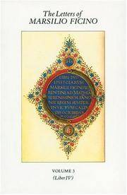image of The Letters of Marsilio Ficino: Volume 3